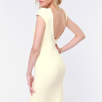 Chic of Nature Cream Bodycon Dress