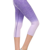 Yoga Capri Pants - Purple