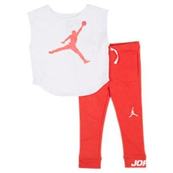 Girls' Jordan Oversize T-Shirt and Leggings Set
