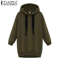 New 2017 Autumn Winter Fashion Womens Long Sleeve Hooded Loose Warm Hoodies Sweatshirt Plus Size Femininas Plus Size S-5XL