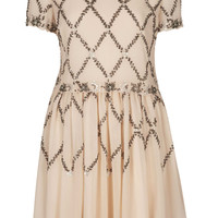 Cross Embellished Skater Dress