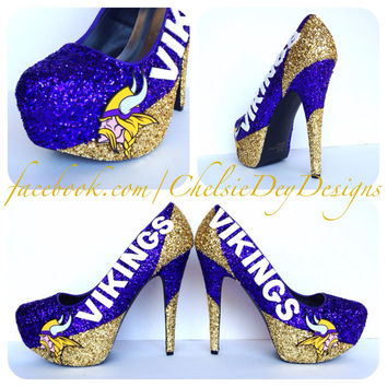 Minnesota Vikings Glitter High Heels