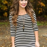 Made To Love Dress-Black/Ivory