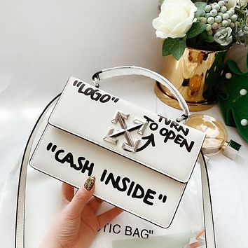 Off white blogger bag white with black letters