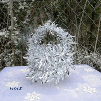 Winter Wedding - Winter Wonderland - Silver Wedding - Wedding Basket - Flower Girl Basket - Baskets - Holiday Wedding - Girls Basket