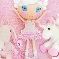 Sweetheart Pink Party Dress And Bloomers For LalaLoopsy/Similar Sized Dolls - Kawaii Cute Girly Girl Elegant Sweet Lolita Loli Hime Gyaru