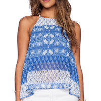 Show Me Your Mumu Selena Top in Blue