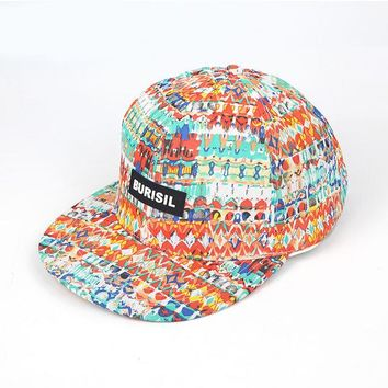 Sports Hat Cap trendy  Adjustable Flat Bill Baseball Caps Dancing Hip Hop Cap Bohemian Style Young Man Caps Outdoor s ZZ4063 KO_16_1