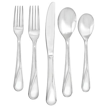Farberware Capers 20-pc. Flatware Set (Grey)