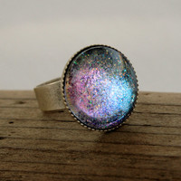 Aurora Antique Silver Ring