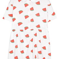 Watermelon Print A-line Dress - OASAP.com