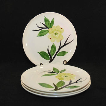 Vintage Stetson China Company Joni Dixie Dogwood Dinner Plate (c. 1950's?) Handpainted Vintage China Dinner Plate, Collectible