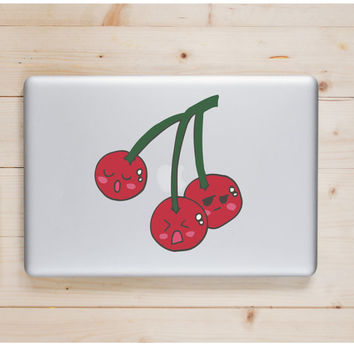 "Cherry Kawaii Die Cut Sticker // Cute Japanese // Computer & Tablet XL Size // 8"" // Perfect For Indoor, Outdoor, Laptop, Car"