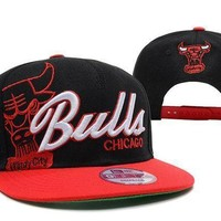 Chicago Bulls Nba 9fifty Hat Windy City Patch Black Red