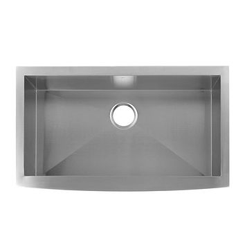 DAX-SQ-3021 / DAX FARMHOUSE KITCHEN SINK, 18 GAUGE STAINLESS STEEL, BRUSHED FINISH