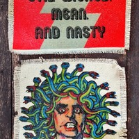 - Evil Wicked Mean & Alice Cooper - Recycled Canvas Patches – BACKBITE