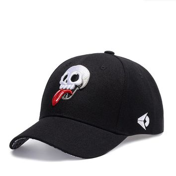 Rocking Skull Embroidery Hats