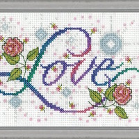 Design Works Love Counted Cross Stitch Kit - TheAngelsNook.com