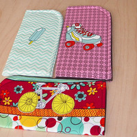 Summer Selection of Sunglass Cases Choose your print Rollerskate Ice Cream Bicycle