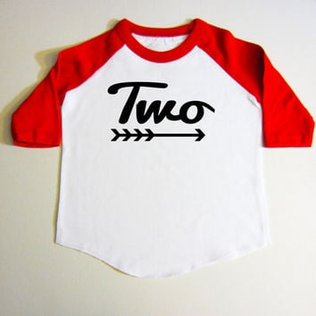 2 Year Old Birthday Shirt - Baseball Shirt - Raglan Shirt - Two Year Old Birthday Shirt - Toddler Shirt 2nd birthday shirt Red shirt Black