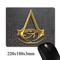 Stone hieroglyphics Assassins Creed Egypt Origins CG printed Heavy weaving anti-slip rubber office mouse pad Coaster Party favor
