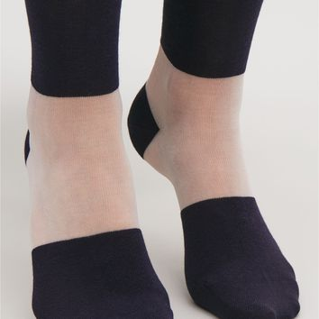 Sheer colour-block socks - Navy - Socks & Tights - COS FR