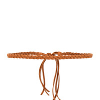 Frasier Sterling Braided Leather Choker in Cognac | REVOLVE