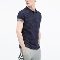 DOTTED JACQUARD POLO SHIRT