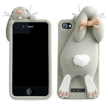 IPHONE 4 / 5 MOSCHINO RABBIT SILICONE CASE