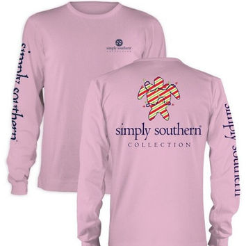 Simply Southern Christmas Turtle - Baby Pink