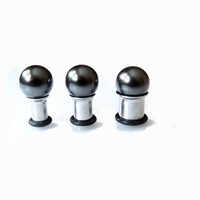 Hiding Hide Ear Plug Gauges Hematit Shell Pearl Studs Gauges 6g 4g 2g 0g 00g 7/16 Single Flair