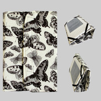 Standable Kindle Fire Cover Kindle Fire HD Cover Nexus 7 Cover iPad Mini Cover Nook Tablet Cover Stand Up Tablet Cover Case Butterfly Cream