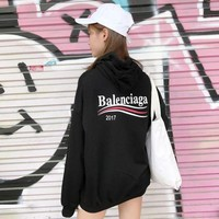 ONETOW balenciaga women print long sleeve top sweater hoodie 4