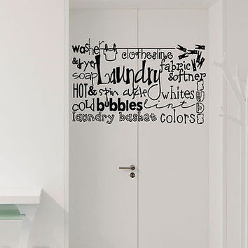 The Laundry Room quote wall sticker quote decal wall art decor 6142