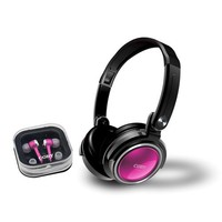Stereo -Pink - Mini-phone - Wired - Gold Plated - Over-the-head - Binaural - Ear-cup