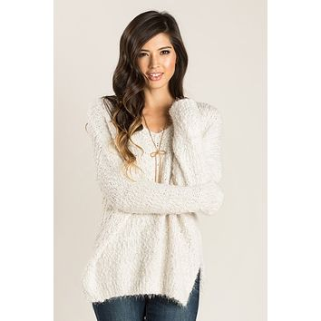 Liv Ivory Eyelash Knit Sweater