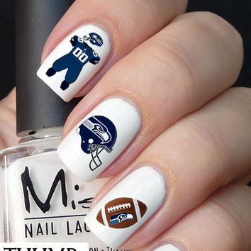 Seattle Seahawks Nail Decals 50pc