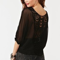 Crochet Tie Top - Black in  Clothes at Nasty Gal