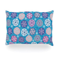 "Julia Grifol ""Floral Winter"" Oblong Pillow"