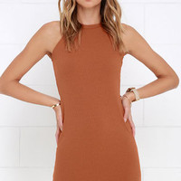 Glamorous Urbanities Rust Orange Dress
