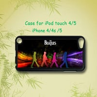 The Beatles-   ipod touch 5 case ,ipod touch 4 case , iphone 4 / 4S case , iphone 5 case ,  in black or white