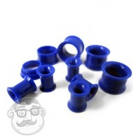 "Blue Internally Threaded Tunnel Plugs (8 Gauge - 1/2"") 