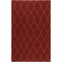 Fallon Wool Area Rug in Maroon and Brown design by Jill Rosenwald