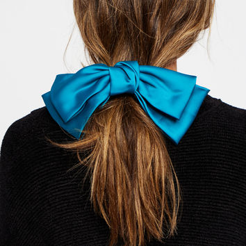 Free People Silk Bow Barrette