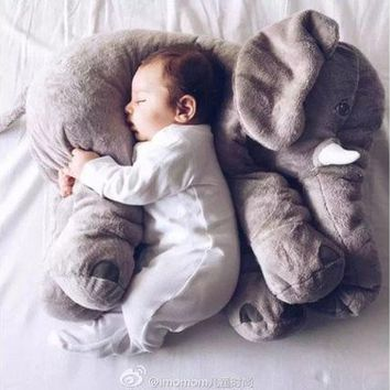 ESBONG Fashion Baby Animal Elephant Style Placate Doll Stuffed Plush Pillow Kids Room Bed Decoration Toys [9303708874]