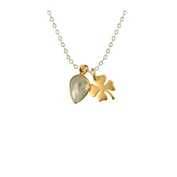 Four-Leaf Clover Charm Necklace