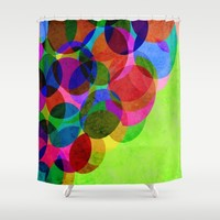Up Shower Curtain by Miss L In Art