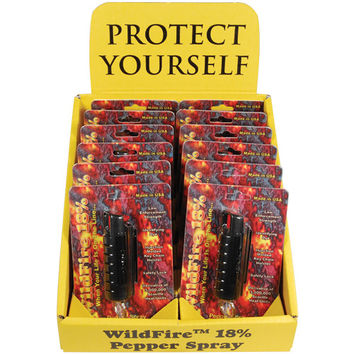 12 - WildFire Pepper Spray Black with Counter Display