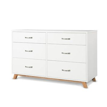 Child Craft™ SOHO 6-Drawer Double Dresser in White/Natural