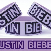 Justin Bieber One Inch Silicone Wristband